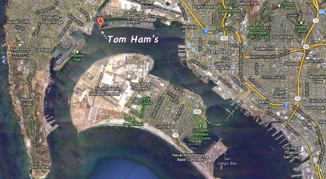 Tom Ham's Restaurant Location - Area Map